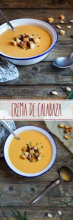 :) Crema de calabaza   Más en https://lomejordelaweb.es