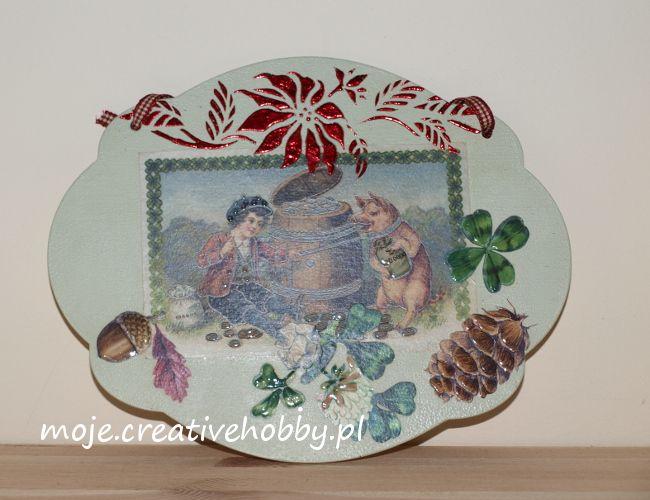 Urocza tabliczka ze złoceniami - idealna dekoracja do Twojego domu lub pomysł na prezent :)