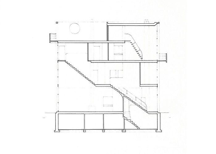 Alzado casa citroen le corbusier casa citrohan - Alzado arquitectura ...