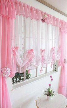 Lindas cortinas rosas...