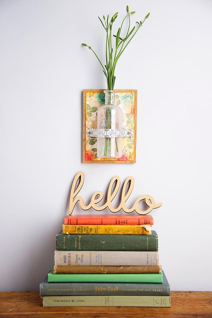 Mini Vase DIY Als Wanddekoration | DIY Vase | Ideen Für Blumen | Dekoration  Mit Blumen