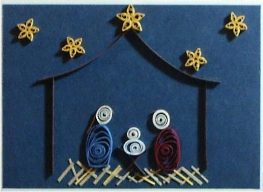 quilled nativity - simple