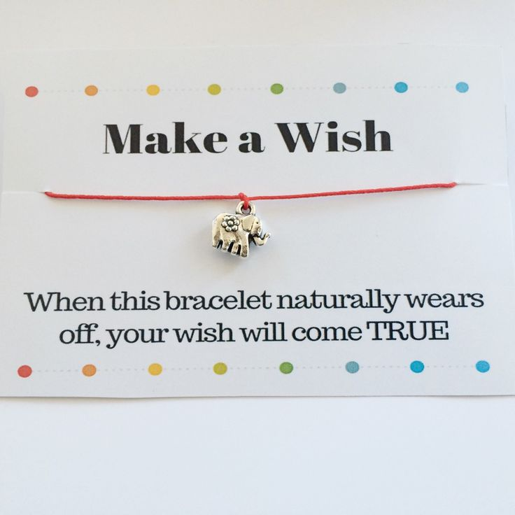 Make a Wish bracelet with a lovely elephant charm