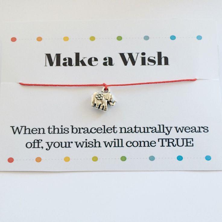 Make a Wish bracelet with a lovely elephant charm