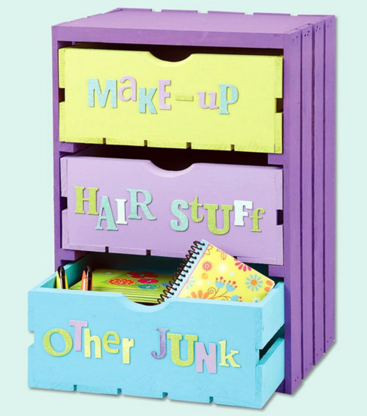 Painted 3-Drawer Crate