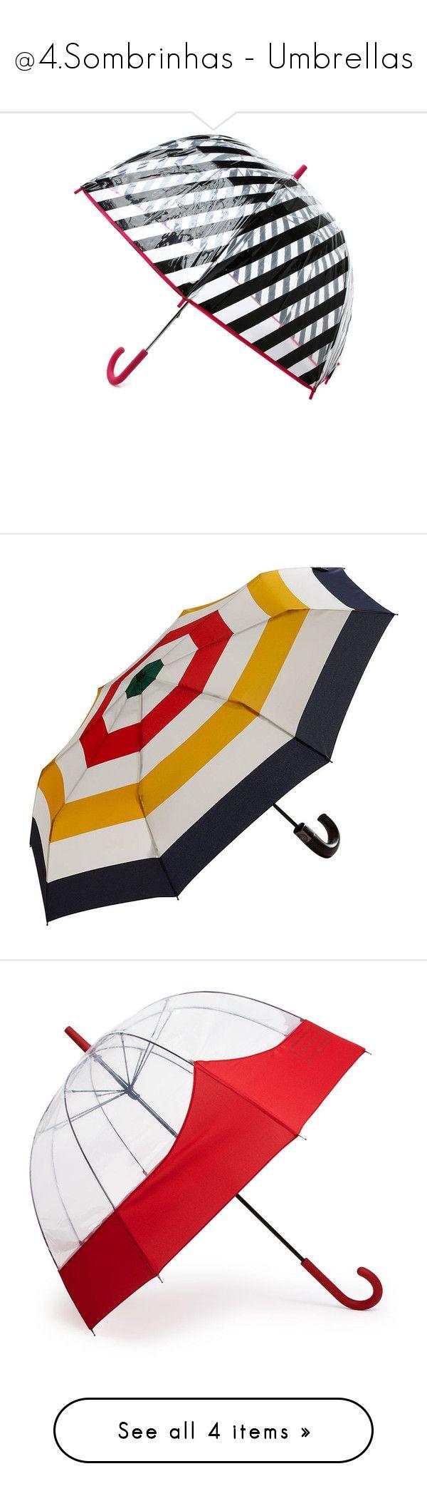 """@4.Sombrinhas - Umbrellas"" by rafakeka ❤ liked on Polyvore featuring accessories, umbrellas, paraguas, black stripe multi, transparent umbrella, see through umbrella, kate spade, bubble umbrella, transparent bubble umbrella and fillers"