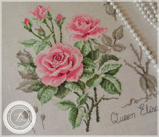 Bestand: Königin Elisabeth   – Cross stitch – Floral