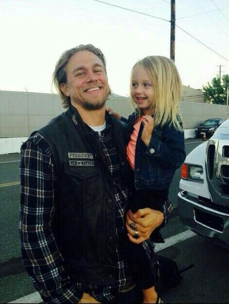Jax Teller aka Charlie Hunnam and a cast member - Sons of Anarchy