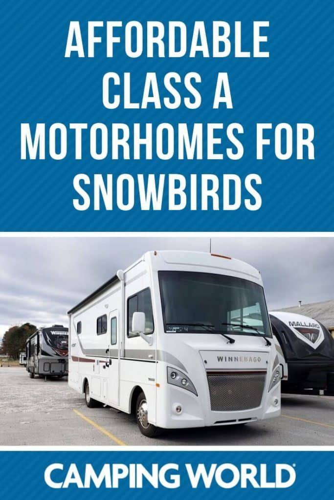Affordable Class A Motorhomes For Snowbirds Class A Motorhomes