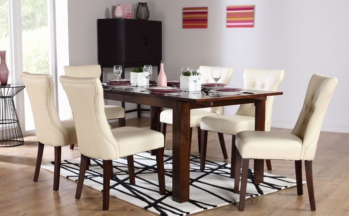 Hudson white two tone round extending dining set dining for 2 tone dining room sets