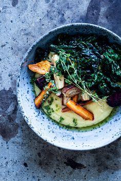 Polenta w. Oven Roasted Root Vegetables — Blueberrytales
