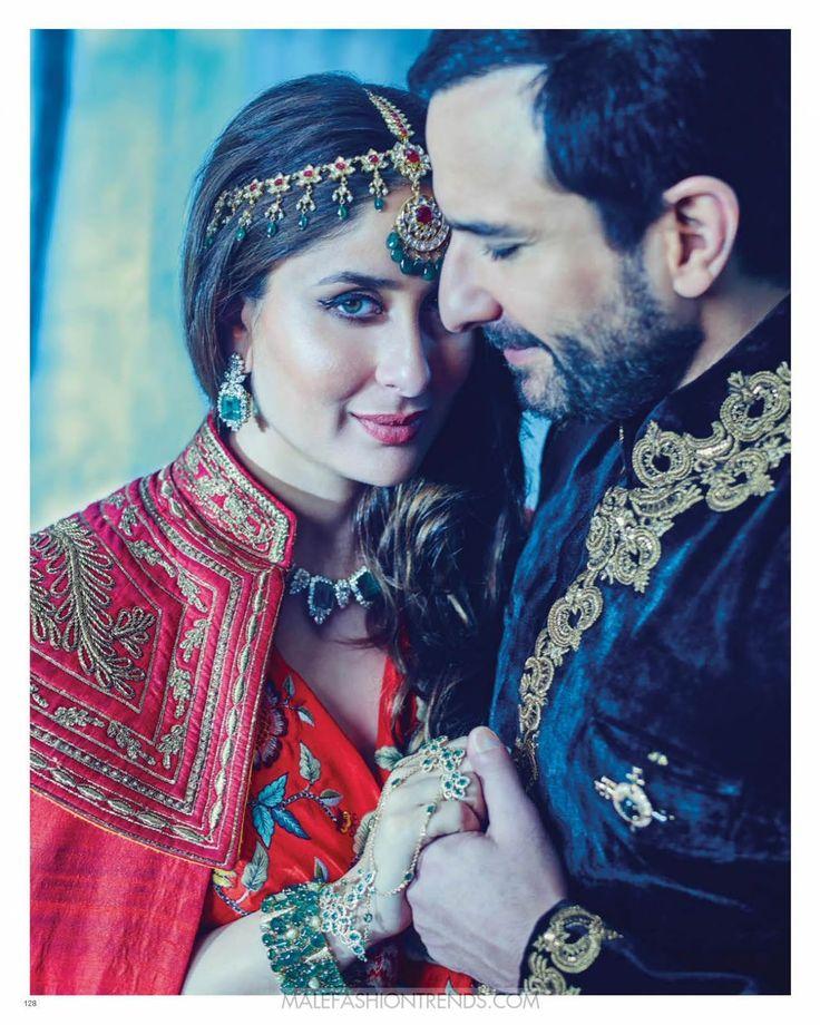 Saif Ali Khan y Kareena Kapoor Khan para Harper's Bazaar Bride India