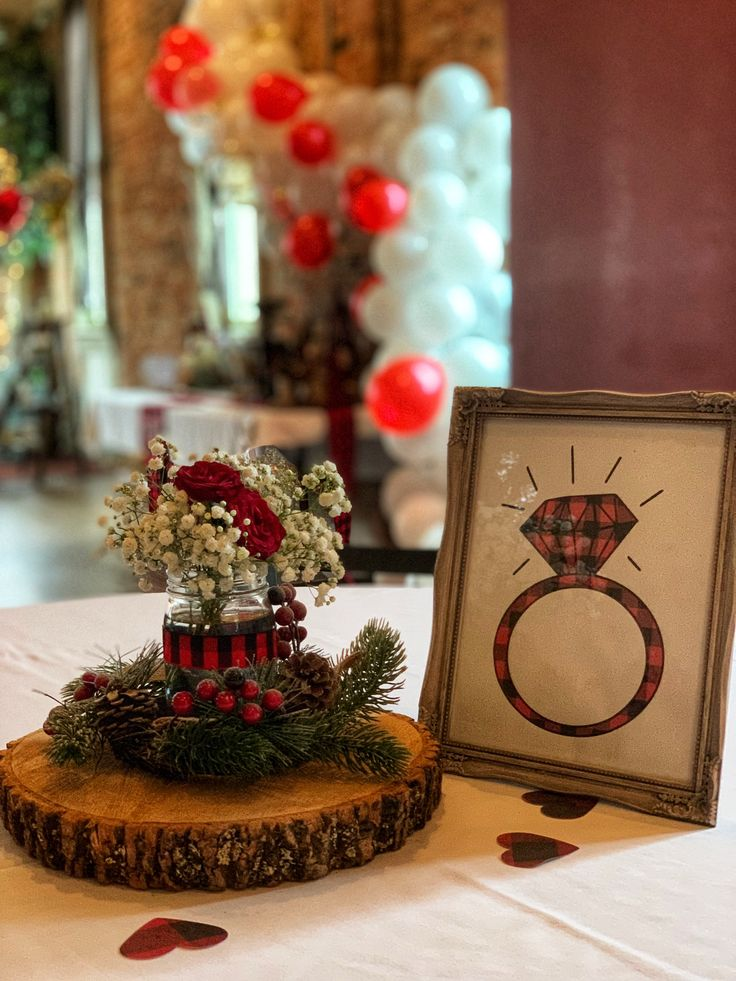 Buffalo Plaid Lumberjack Centerpieces And Flower