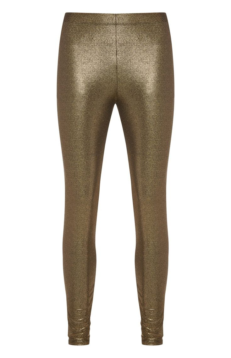 Primark - Gold Foil Metallic Legging
