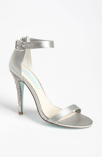 Blue by Betsey Johnson 'Bells' Sandal. Possible shoes for bridesmaids, in white or silver (also looks like other shoes with matching style to choose from)