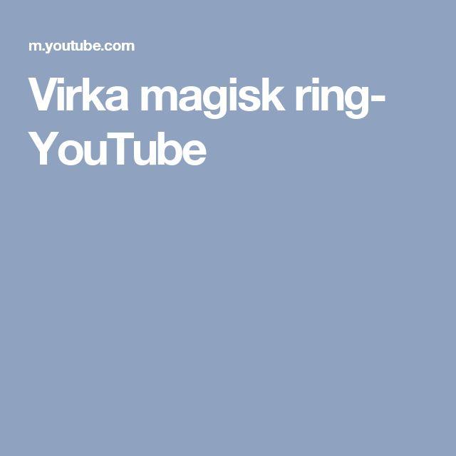 Virka magisk ring- YouTube