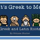 This 12-page packet offers engaging activities to teach Greek and Latin roots.  Page 2- Greek Words from Myths Page 3- a list of words and brainsto...
