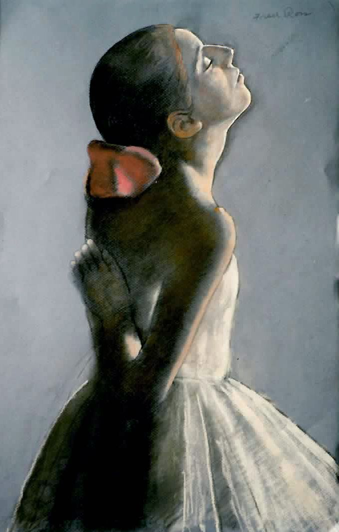Dancer with Pink Bow