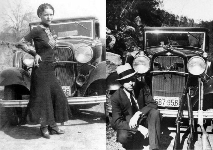Легендарные американские грабители Бонни и Клайд