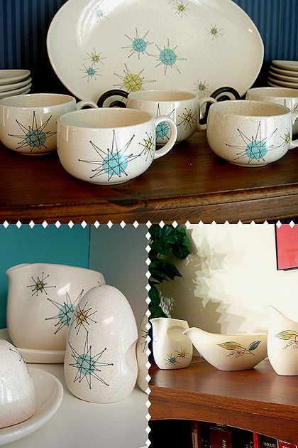 Franciscan atomic dishware - someone I know has a plate from this I just cannot remember who