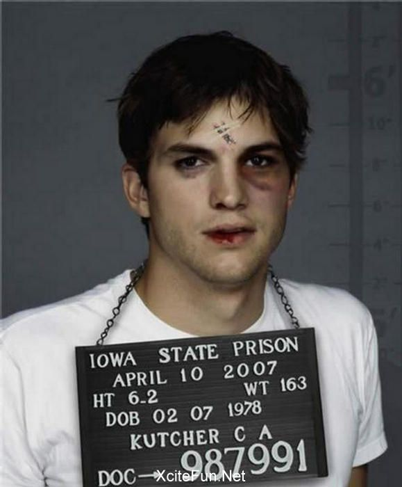WTF my man Kutcher busted up LOL