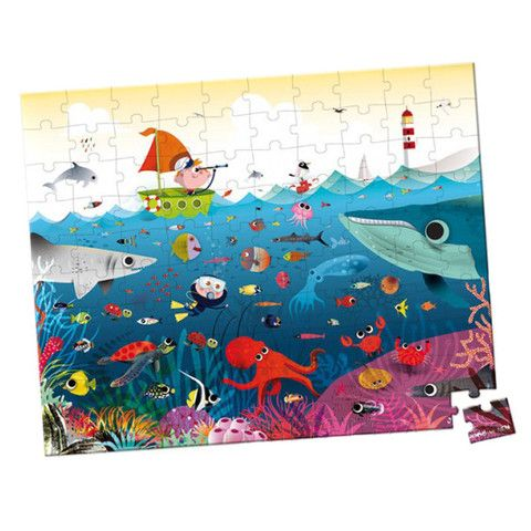 Janod Puzzle Underwater World 100 Pieces