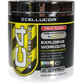 C4 Extreme is powdered energy. Harnessing unparalleled NO3 technology and exclusive, premium ingredients such as Creatine Nitrate, C4 Extreme is a more advanced than any pre-workout supplement in its class, possessing the power to ignite your mind, muscles, and workout regimen, workout after workout after workout.