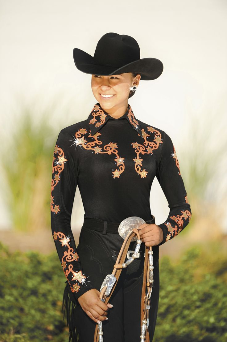 17 best images about cowboy up horse show clothes brass ring collection patsy orange and black
