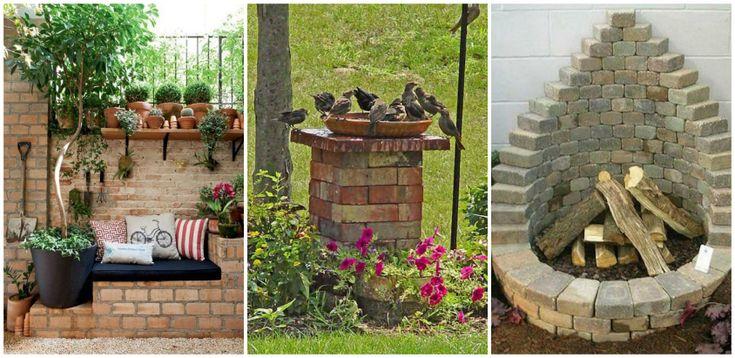 25 kreatív kerti dekoráció téglából