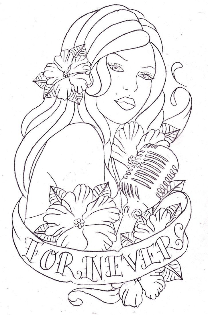 48 best line art tattoo stencil images on pinterest