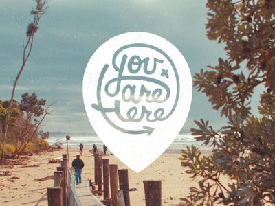 You Are Here Logo by Tyler Anthony on Dribble #Logo #Here #Maps