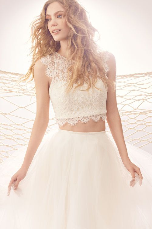 722 Best Crop Top Two Piece Wedding Dresses Images On