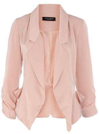 Pale Pink Blazer -  The relaxed fabric and shape are perfect for the office. Pair up with Navy - fab! #pattyonsite