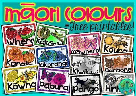 ~FREE PRINTABLES~ Māori Colour sheets {Green Grubs Garden Club}