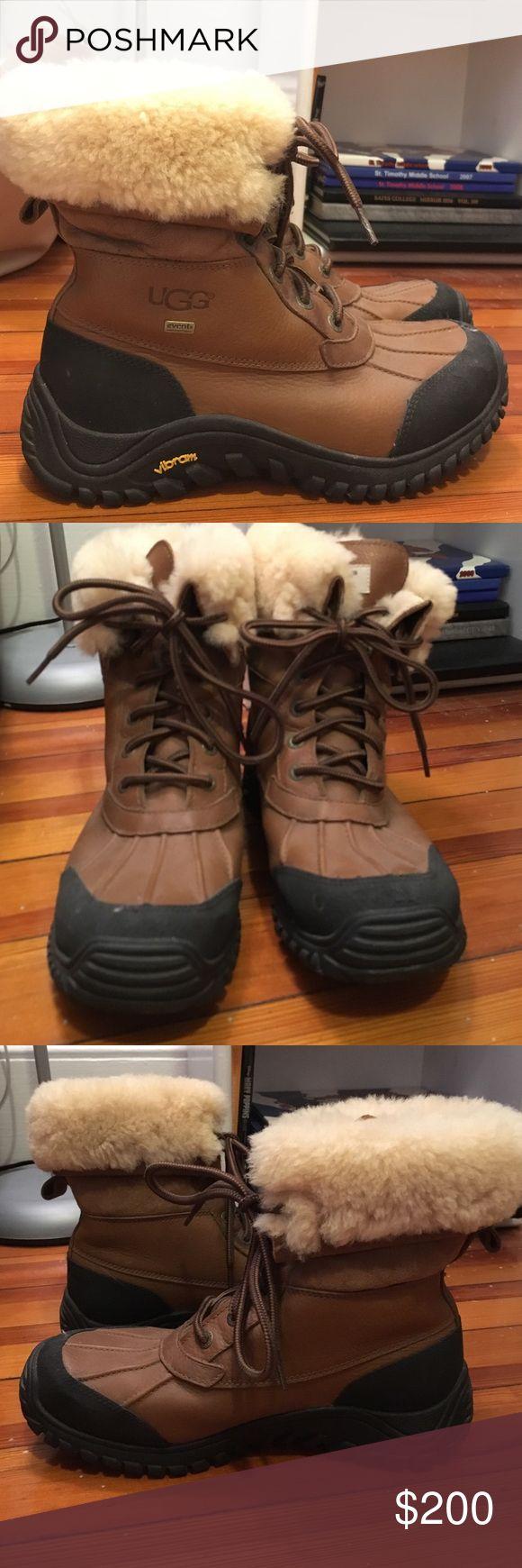 Ugg Australia Adirondack Boot Waterproof leather Ugg winter boots with sheepskin lining UGG Shoes Winter & Rain Boots