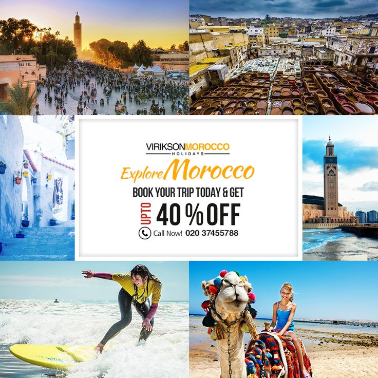 Book a #holiday with #ViriksonMoroccoHolidays to discover the Exhilarating cities, bustling souks & plenty of #adventurous sites in this Winter/Spring in Magnificent #Morocco.  Call us at 020 37455788 or visit: www.viriksonmoroccoholidays.co.uk to save 40% OFF on your holiday bookings.  Morocco is rich with mountains, where centuries-old Berber tribes still work at #traditional #crafts in remote towns and villages.  #Holidays #Moroccotravel #CheapMoroccoHolidays #MoroccoHolidayPackages