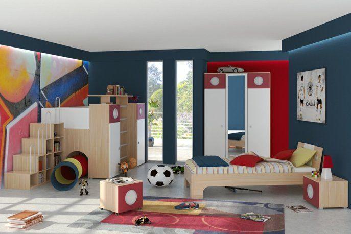 Jungen Zimmer kinderzimmer einrichtung ideen für junge rutschbahn im jungenzimmer