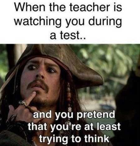 Or during class trying not to be called on