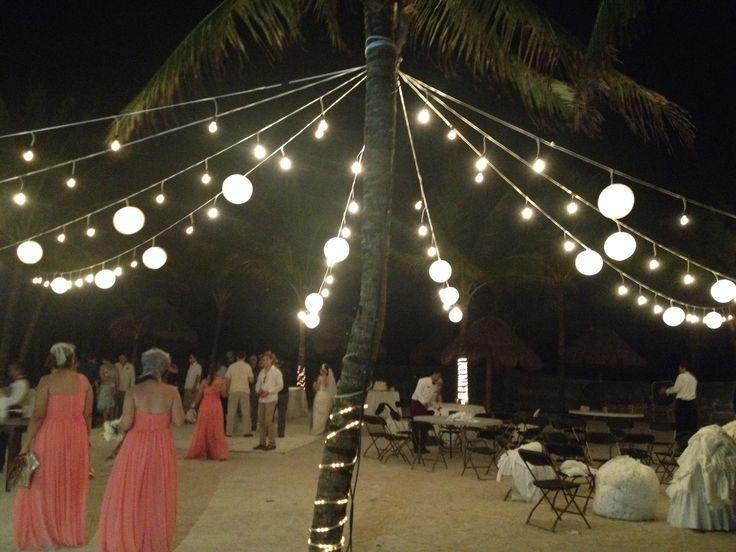 CBI105 Riviera Maya Weddings bodas / Market ligths / iluminacion con focos