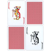 Fournier Plastic Playing Cards- Regular Pips (red)