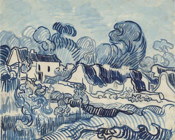 Landscape with Houses, 1890, Vincent van Gogh, Van Gogh Museum, Amsterdam (Vincent van Gogh Foundation)