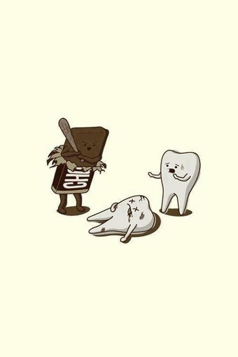 Chocolate doesn't play nice! #toothache #chocolate #candyworld