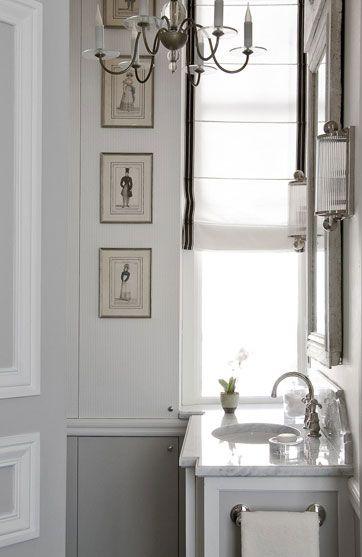 Jean Louis Deniot #bathroom #architecturalhardware http://www.motherofpearl.com