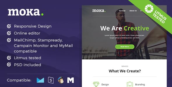 Moka - Responsive Email and Newsletter Template - Newsletters Email Templates