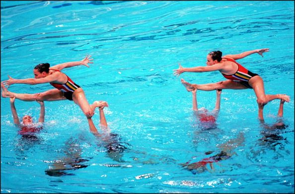 Sydney Olympics synchronized swimming in Sydney Australia on September 30 2000 Canadian team