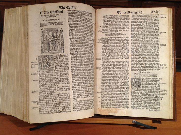 1539 Great Bible of King Henry VIII.  The first legally-printed English language Bible.  Available at: GREATSITE.COM