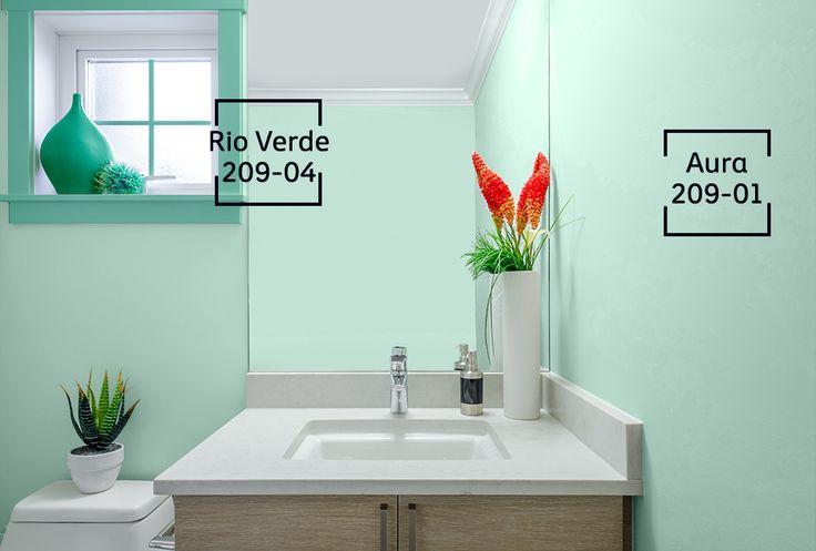 Para crear un espacio sofisticado con un efecto visual extremadamente armónico y tranquilo, combina tonos de la misma gama o similares.