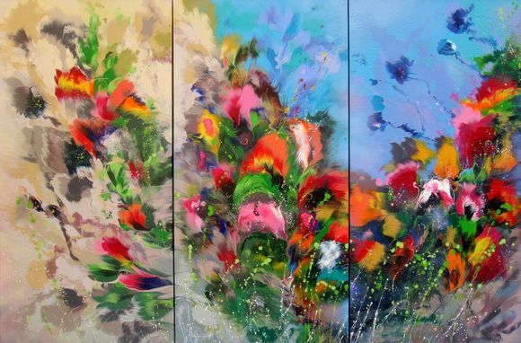 Landscape, EXTRA LARGE Abstract Painting 112 x 168cm