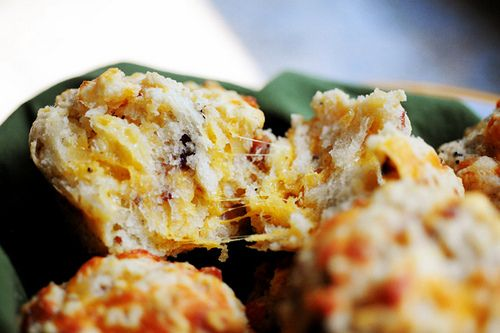 woman bacon onion cheddar biscuits bacon onion cheddar biscuits ...