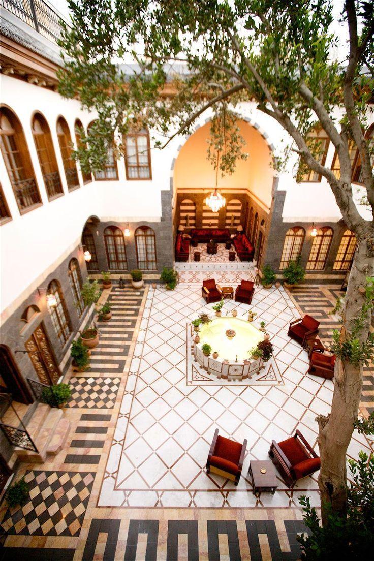 Courtyard Beit Zafran Hotel De Charme Damascus Syria Courtyard